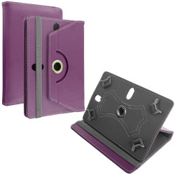 Universal 7 Folio 360 Flip Leather Tablet Case (Purple)